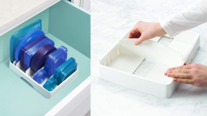 storage unit for food tupperware lids