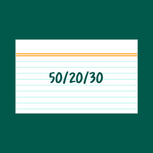 50/20/30 index card