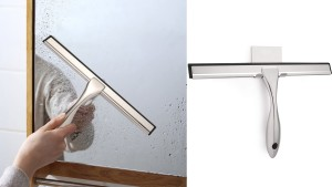 shower squeegee to wipe away excess water