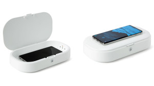 uv phone sanitizing that cleans your phone and can act as a wireless charging pad