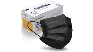 three-ply black disposable face masks