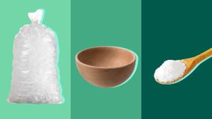 Ice, Bowl, Salt