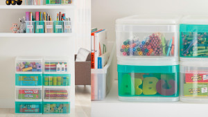 colored storage cubes for kids' playrooms and bedrooms
