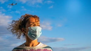 woman travel holiday pandemic