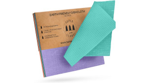 reusable cellulose colored swedish dish cloths
