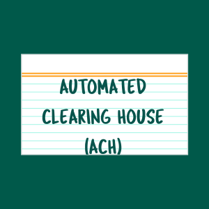 Automated Clearing House index card