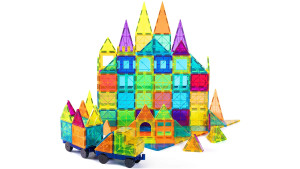 colorful magnetic building blocks
