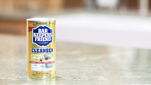 powdered cleanser that can fight tough caked on stains and works on a ton of different surfaces