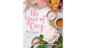 book filled with DIY crafts, recipes, and things to do indoors