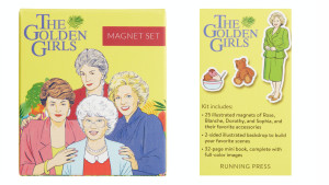 themed golden girls magnet set and book