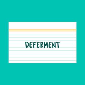 DEFERMENT INDEX CARD