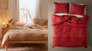 bedding set in fall colors duvet and shams