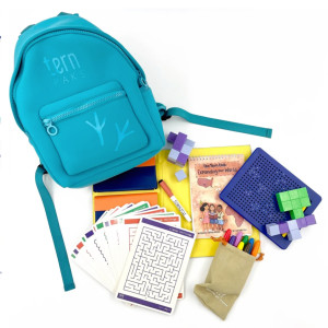 screen-free activity backpack for kids during travel