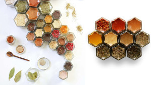 glass spice jars with magnetic lids