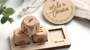 Wooden Date night dice