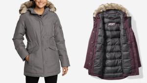 fully lined parka winter coat