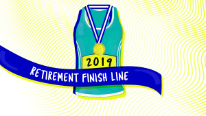 The Gender Retirement Gap, Explained_Face the Future Hero Image_medal and marathon for retirement finish line