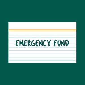 Emergency fund index card