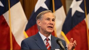 Texas Governor Greg Abbott announces the reopening of more Texas businesses during the COVID-19 pandemic at a press conference at the Texas State Capitol in Austin on Monday, May 18, 2020.