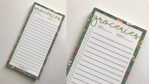 notepad for grocery lists
