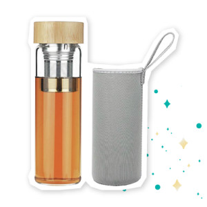 Infuser Glass Water bottle