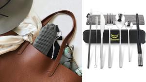reusable travel utensil set