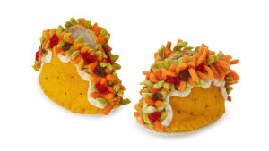 taco themed feet booties for babies