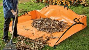 leaf hauler for easy yard cleanup