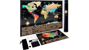 World Map Travel Poster