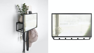 wall unit for keys and mail