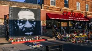 A mural of George Floyd is shown in Minneapolis, Minnesota.