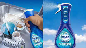 dawn soap cleaning spray