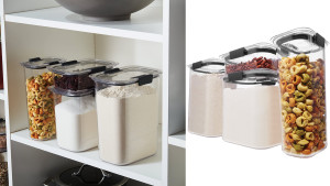 airtight containers to store pantry foods