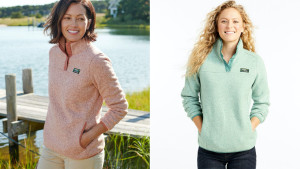 fleece pullover for cold weather