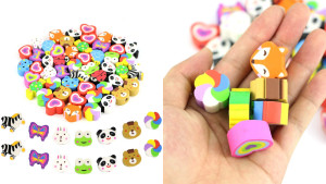 fun shaped erasers