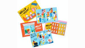 cute quarantine-themed postcards