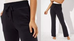 black fleece sweatpants