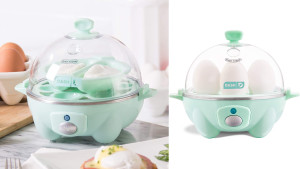 dash rapid egg cooker cooks eggs quickly, hard-boiled, omelette, or poached