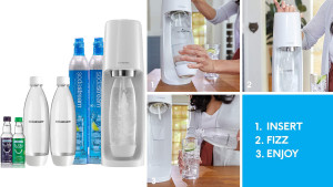 soda stream seltzer-making machine that can turn tap water to bubbly water