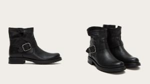 frye black short booties