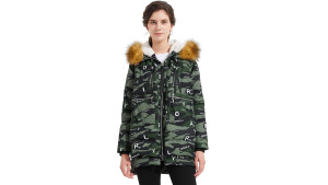 winter puffer jacket with hood