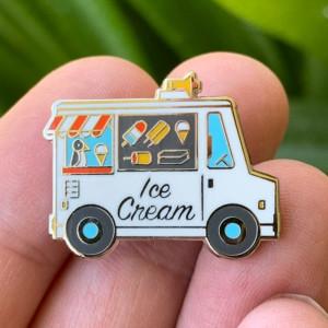 ice cream trunk enamel pin