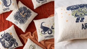 zodiac-themed throw pillow