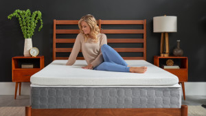 three-inch thick mattress topper made from memory foam