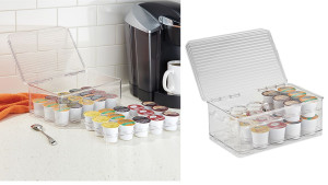 plastic clear container for coffee k-cups