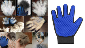 grooming glove that is easy to use for pets that hate going to the groomer