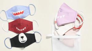 kids face masks with fun animal prints