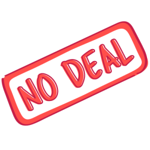 No-deal sign