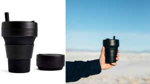 collapsible silicone coffee cup