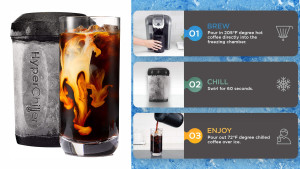 chilling device that can make cold brew within sixty seconds